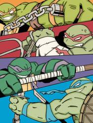 Teenage Monday Ninja Turtles by wotnip