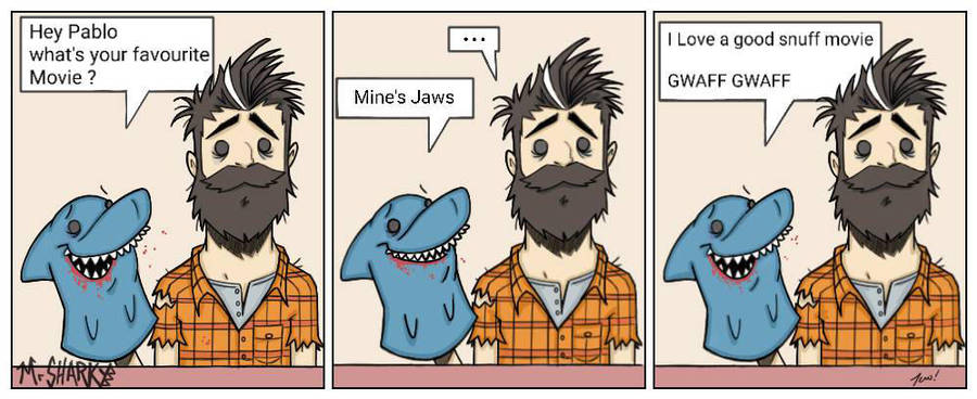 Mr Sharky - JAWS by wotnip