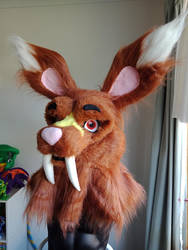 Cade's fursuit head by russia13666