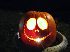 Jack Skellington Pumpkin, YAY by MsCashew