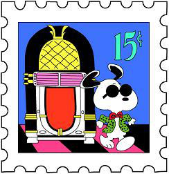 Snoopy Postage Stamp 2 By Deck As Ef