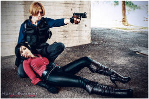 Leon and Ada from Resident Evil 6 by Akiba91