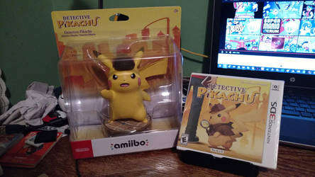 Detective Pikachu Preordered Game + Giant Amiibo!! by Linker1031