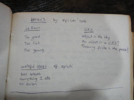Poems Epicai Haikus: LeBron, UFO, Bad Breath by Geotjakra