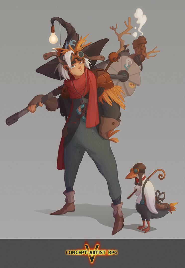Concept Artist RPG 5 Task 1 by Klodia007