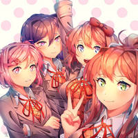 happy belated bday, ddlc~! by yourcupofkohi