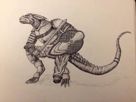Reptilian Warrior  by lumpus99