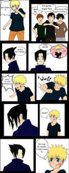Sasuke+Naruto comic strip by zepolnylarom