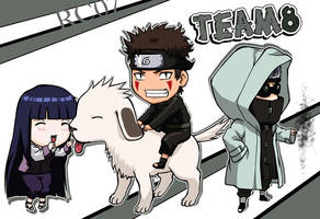 Chibi Team 8 by Roggles