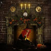 Fireplace Evening by flina