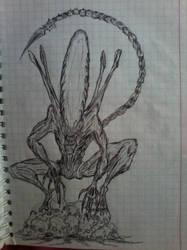 Alien - Army Drawing 1 by Lee-Zard