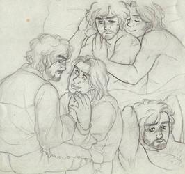 Musketeer Sketch Dump [Athos and d'Artagnan] by ProfDrLachfinger