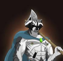 Raccoon viking by EvilTreant