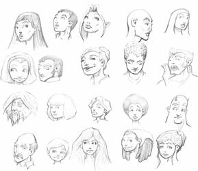Face Sketchings from the Road by AMProSoft