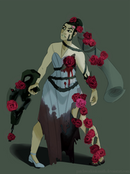 The Rose Bride | Overwatch Skin Concept by Patchworkinksmith