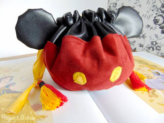 Mickey Mouse Pouch - Small Dice Bag by Patchworkinksmith