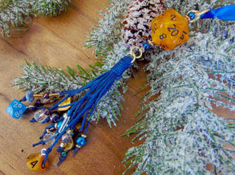 The Astronomer's Tassel Ornament by Patchworkinksmith