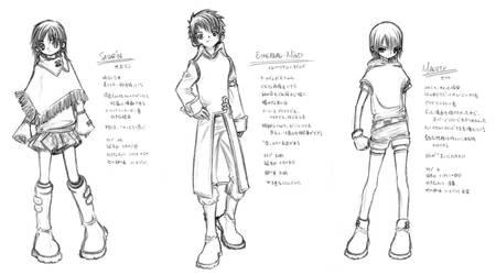 Trio Again: Pencil Drawing by MakotoShinki