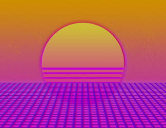 [Photoshop] Retro Sunset by TheRanger42