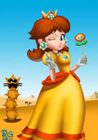 3 Princesses: Daisy by BabyVegeta