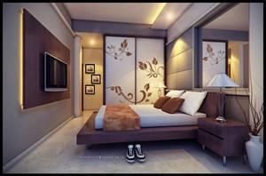 warm bedroom by jaxpc