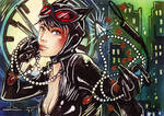Catwoman ACEO by Kaoruyagi