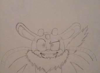 Preview Drawing: Thunderbolt the Chinchilla by V-pal97