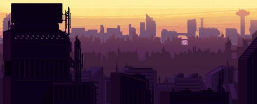Sci-fy city by DannRoch