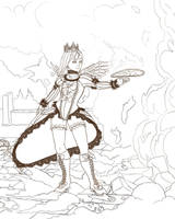 Dragon Nest Sea Fanart lines by AnkeLive