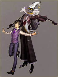 Shin and Pierrot - RPG Characters by AnkeLive