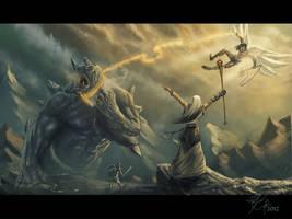 Epic Mountain Battle by Rob-Joseph