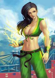 Street Fighter 5 - Laura by phamoz