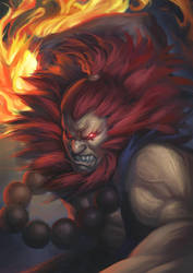 Street Fighter 5 - Akuma by phamoz