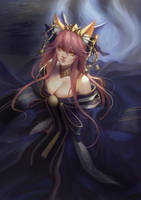 Fate/Grand Order -Tamamo no Mae by phamoz