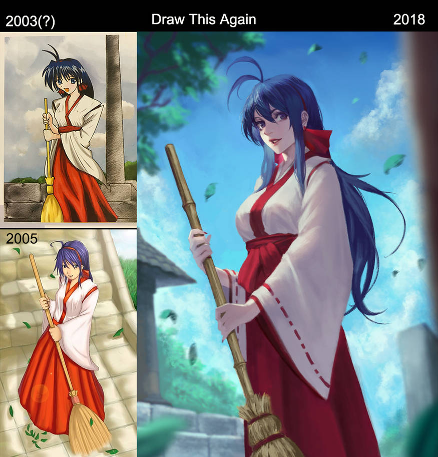 Draw this Again - Miko by phamoz