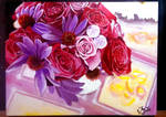 pink red flowers by JackXYZ