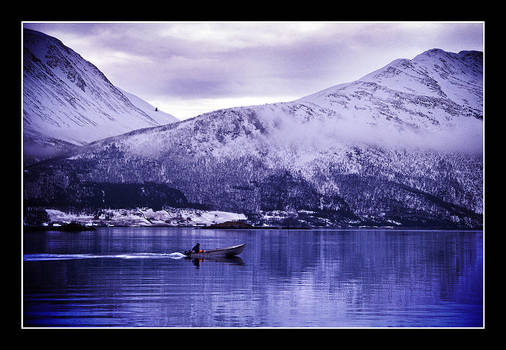 Boat on fjord by AnteAlien