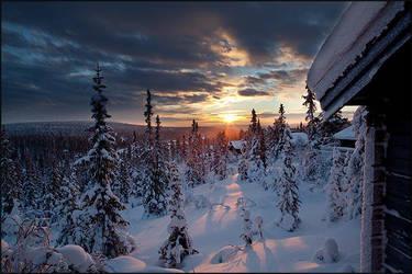 Storhogna sunrise by AnteAlien