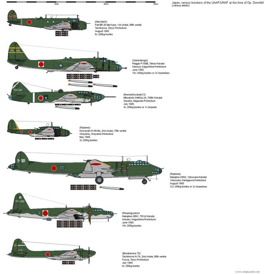 Japanese level bombers of Ketsugo [JA-AH] by the-roast