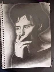 Michael Fassbender sketch by leahlahey