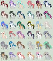Pony Point Adopts .:1 POINT EACH:. by xXLovingponiesXx