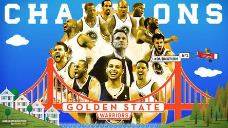 Golden State Warriors NBA Champions 2015 Wallpaper by rOnAn-Ncy