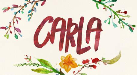 Carla Watercolor Name Art by littlemissfreak