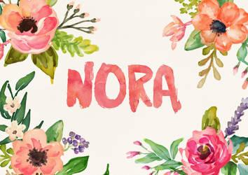 Nora Watercolor Name Art by littlemissfreak
