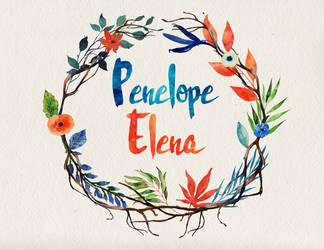 Penelope Elena name art by littlemissfreak