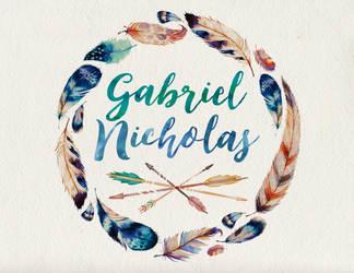 Gabriel Nicholas name art by littlemissfreak