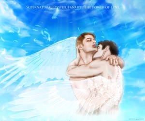 Supernatural Destiel fanart : The power of love by noji1203