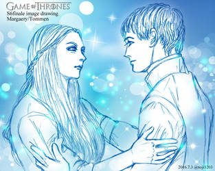 GOT S6finale image drawing Margaery / Tommen by noji1203