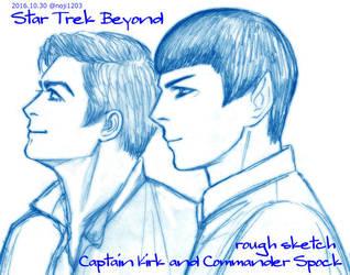 Star Trek Beyond Captain Kirk and Commander Spock by noji1203