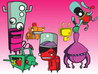 my robots by pixelnemesis